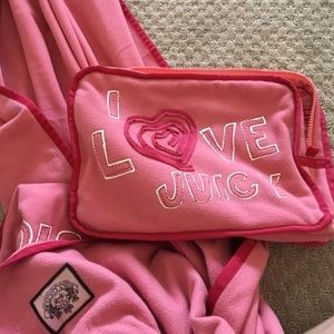 Rare Juicy Couture Blanket w/ Case